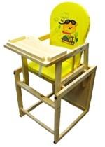 Drewniane krzesełko 2w1 do karmienia ze stolikiem