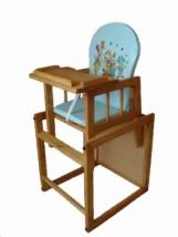 Drewniane krzesełko 2w1 do karmienia ze stolikiem TEAK