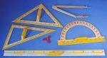 Zestaw magnetycznych przyrządów tablicowych