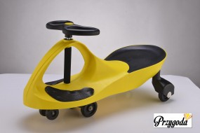 Jeździk, Plasma Car, Swing Car,plasmacar,swingcar,jeździk grawitacyj żółty