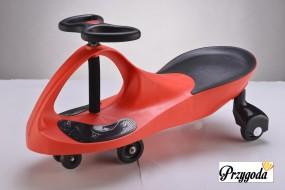 Jeździk, Plasma Car, Plasmacar,Swing Car, Jeździk grawitacyjny czerwony