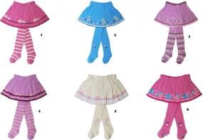 Rajstopy ze spódniczką dla dziewczynek