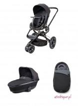 Wózek wielofunkcyjny Moodd z gondolą Foldable - kolor black devotion