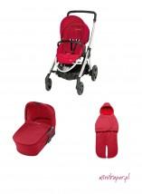 Wózek wielofunkcyjny Elea z gondolą standardową - kolor intense red