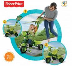 FISHER PRICE - genialny rowerek dla najmłodszych - fioletowy - 3 kol