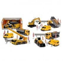 Miniaturki samochodów Zestaw pojazdów budowlanych