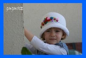 NOWOŚĆ!!!! Szydełkowy kapelusz ręcznie haftowany.