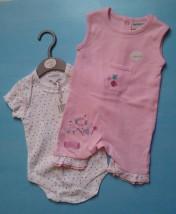 Komplet niemowlęcy - śpioszki + body