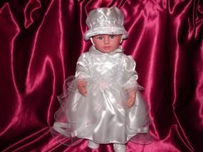 Sukieneczka do Chrztu z kapelusikiem 62
