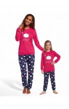 Wygodna Piżama dla dziewczynki Cornette Young Girl 978/85 Sleep Well dł/r N