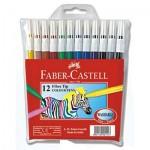Pisaki 12 kol. Faber Castel