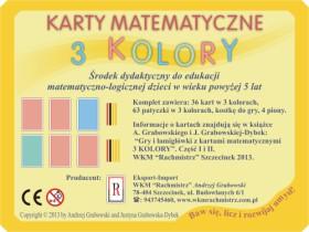 "Karty matematyczne ""3 KOLORY"""