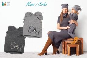 Zestawy dla dzieci: mama i córka tata i syn - czapki, kominy