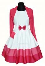 """Sukienka """"Szarotka"""" malinowa z bolerkiem sukienka wizytowa"""
