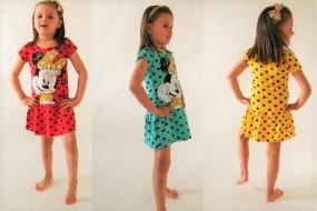 Sukienka dla dziewczynki na lato  Disney Minnie