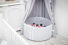 Suchy basenik BabyBall z piłeczkami melanż