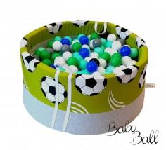Suchy basenik BabyBall z piłeczkami piłki na zielonym tle