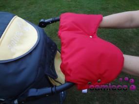 Mufka do wózka ciepłe rękawiczki na zimno śpiworek na ręce
