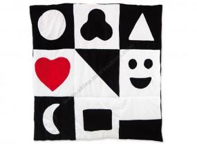 Kocyk mata czarno-biała NS2104