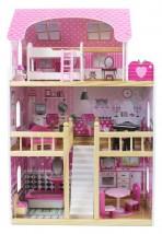 Ogromny drewniany domek dla lalek + meble i akcesoria