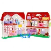 Rozkładany domek dla lalek - czerwień 8032