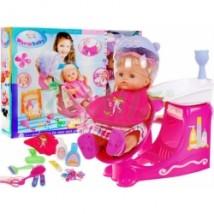 Salon fryzjerski - zestaw z lalką i suszarką RT05046