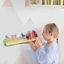 Drewniane zabawki na ścianę VertiPlay