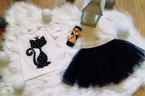 Koszulka+spódniczka tiulowa,opaska