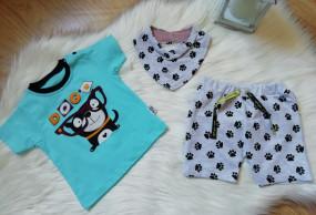 Komplet koszulka+spodenki Niebieska