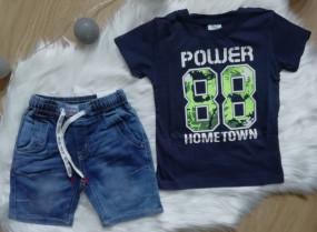 Koszulka +spodenki jeansowe