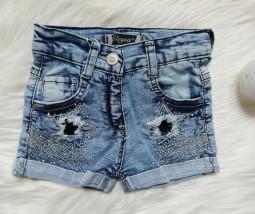Spodenki jeansowe z cekinami