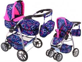 WÓZEK DLA dzieci SPACEROWY + Gondola dla lalek 2w1 M1705