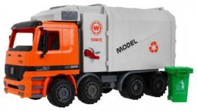 Auto Śmieciara Śmieciarka z kontenerem + Napęd 8188-27